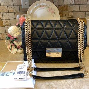 Michael Kors XL Black Sloan Quilted Handbag